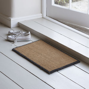 Doormat With Charcoal Border - rugs & doormats
