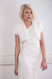 Soft Bridal Fur Bolero In Snow White - new in fashion