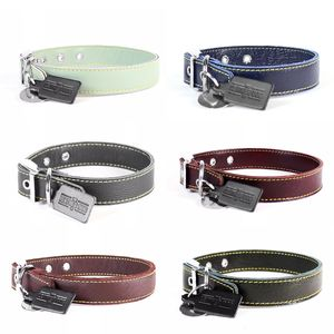 Leather Dog Collar - pet collars