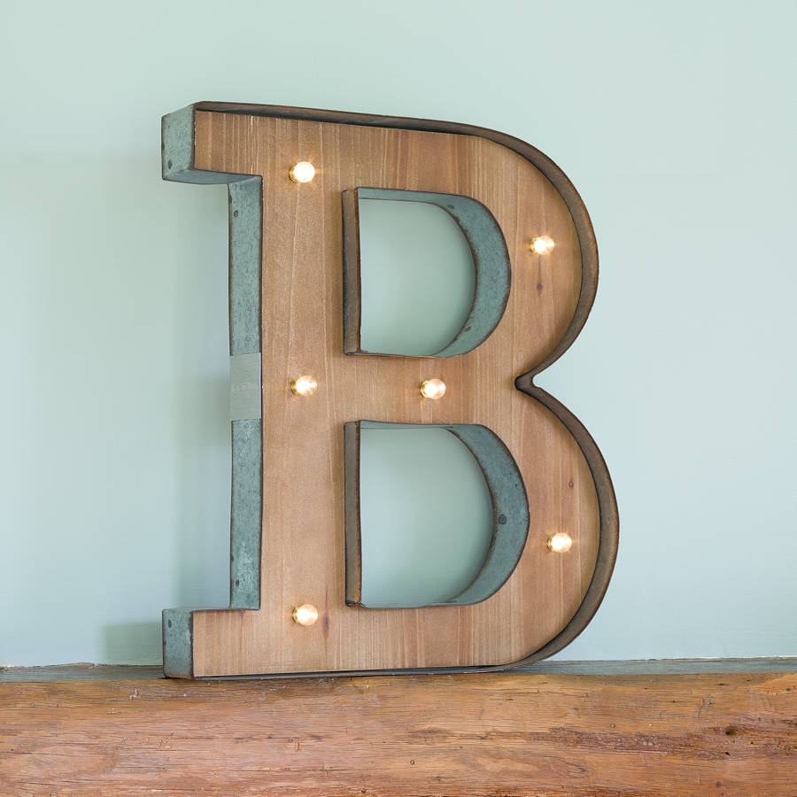 Wooden Alphabet Letter Led Light