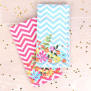 Bright Floral Set Of Four Napkins