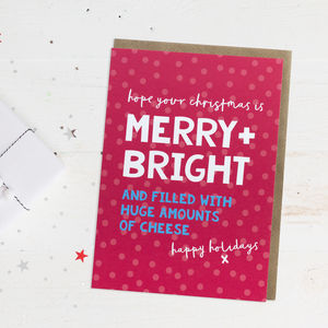 Fun Christmas Card 'Merry And Bright'