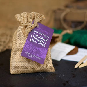 Grow Your Own Sweet Liquorice Mini Plant Kit - wedding favours