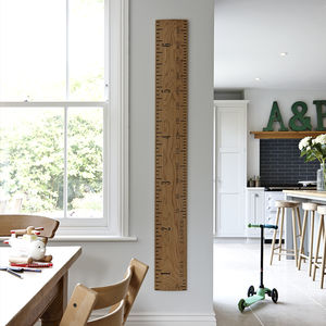 Solid Oak Kids Rule Wooden Ruler Growth Chart - decorative accessories