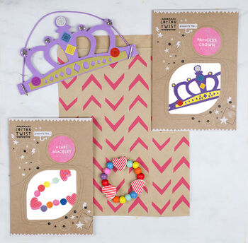 Princess Party Bag With Crown And Bracelet Kits