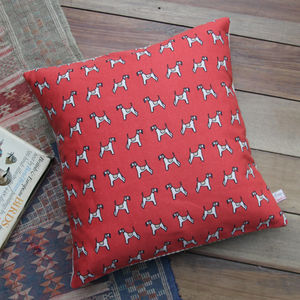 Fox Terrier Printed Cushion - bedroom