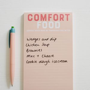 Comfort Food Magnetic Shopping List Pad