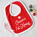 Personalised First Christmas Baby Bib