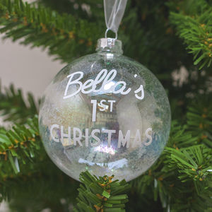 Baby's First Christmas Bauble - baby's first christmas