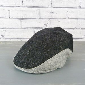 Yorkshire Tweed Colour Block Flat Cap - hats