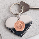 Personalised Our Special Day Heart Keyring