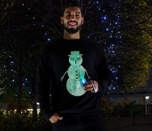 Interactive Glow Christmas Jumper Cool Snowman