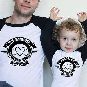 Personalised Appreciation Daddy And Me T Shirt Set