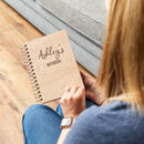 Personalised Wooden Notebook