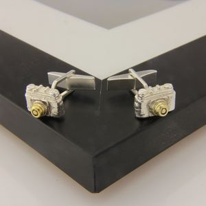 Camera Cufflinks In Gold And Silver - men's accessories