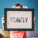 Personalised 'Family' Photograph Print
