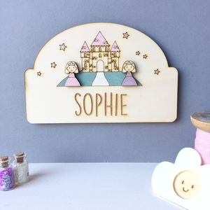Personalised Princess Door Plaque - children's room