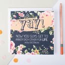 'Yay!' Wedding Or Engagement Card
