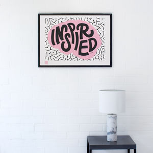 Inspired Charity Screen Print - posters & prints