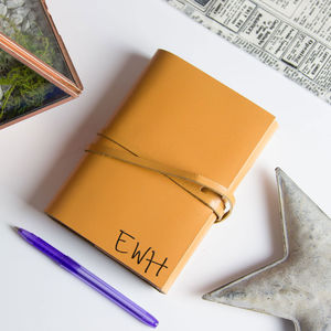 Personalised Monogram Handmade Leather Journal - best gifts for him