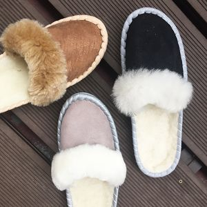 Neutral Sheepskin Slippers - women's fashion