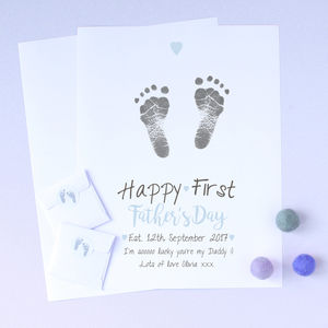 Personalised Happy First Father's Day Inkless Print Kit