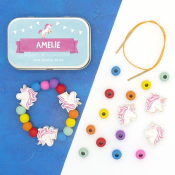 Personalised Unicorn Bracelet Gift Kit