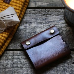 Handmade Mens Leather Wallet - mens