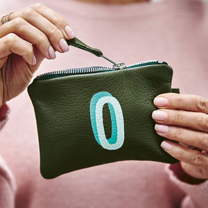 Personalised Hand Painted Leather Pouch - gifts for her