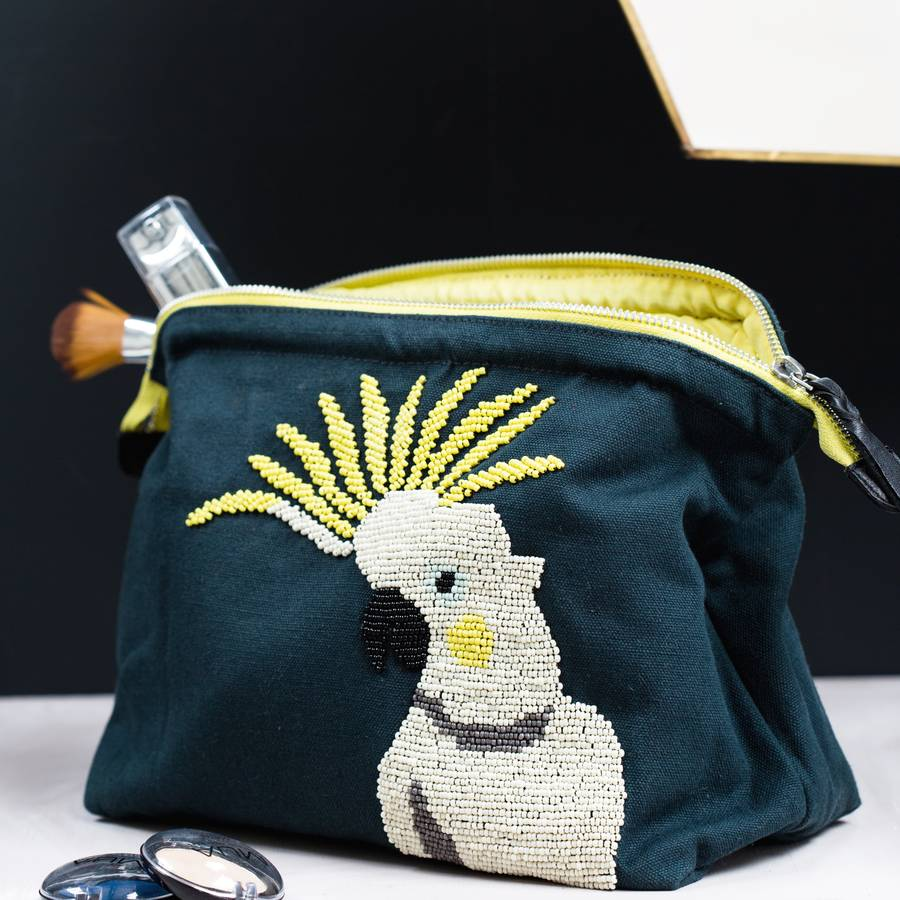 Beaded Cockatoo Wash Bag