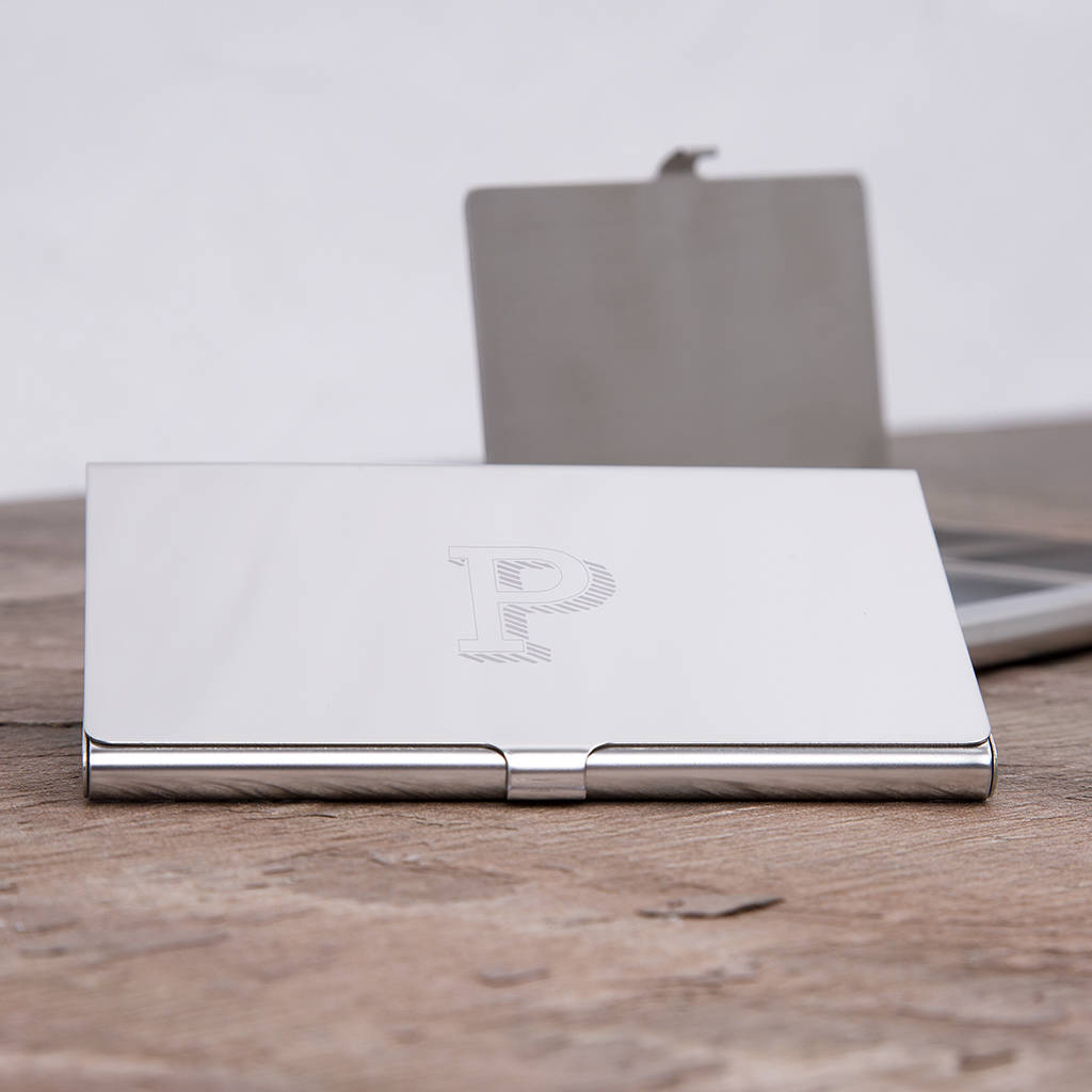 Monogram Personalised Business Card Holder