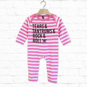 Tears, Tantrums, Rock And Roll Long Baby Grow