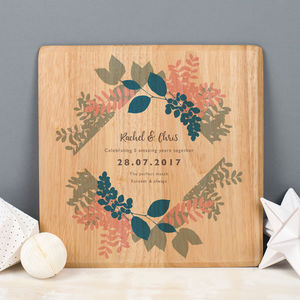 Personalised 5th Anniversary Wooden Print - gifts for couples