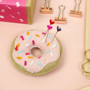 Doughnut Pin Cushion Craft Kit - pin cushions