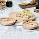 Personalised Wooden Cheese Board Knives