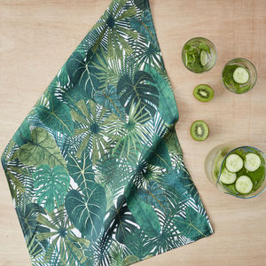 Botanical Plant Tea Towel