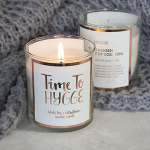 Time To Hygge Scented Candle - dining room