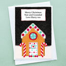 'Gingerbread' Personalised Christmas Card From Children