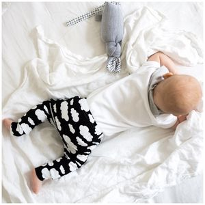 Unisex Black Cloud Child And Baby Leggings - trousers & leggings