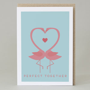 'Perfect Together' Flamingo Card