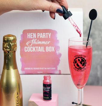 Hen Party Shimmer Cocktail Party Box
