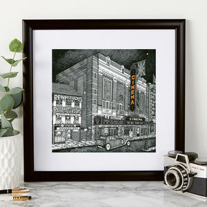 Personalised Art Deco Inspired Cinema Print - top unique gifts