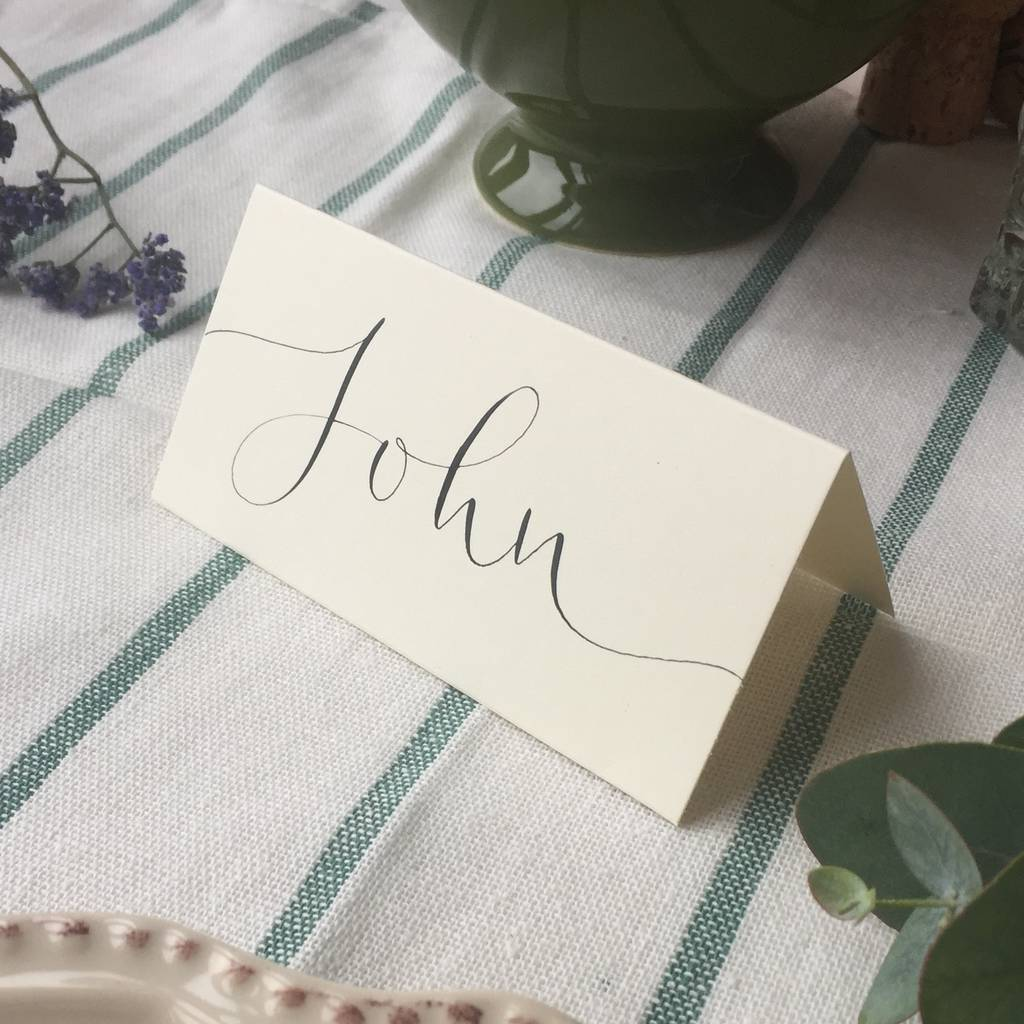 Personalised Classic Place Card