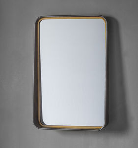 Metal And Gold Wall Mirror With Shelf - mirrors
