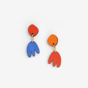 Fetia Star // Tamari'i Child , Tifaifai Earrings - earrings
