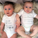 Set Of Three Dribble Meter Babygrows
