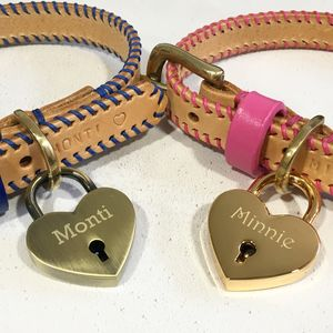 Personalised Pet Name Heart Lovelock Dog Tag - pet tags & charms