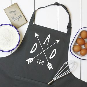 Personalised Dad Or Mum Arrows Apron
