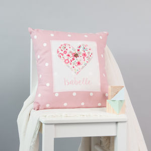 Personalised Girls Christening Gift - personalised cushions