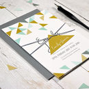 Personalised Geometric Wedding Invitation Set